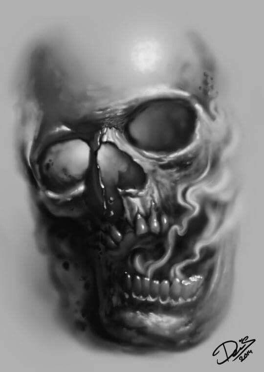 pin by arturo perez on i want your skull pinterest rh pinterest ca evil joker skull tattoo designs Skull Smoke Tattoo Designs