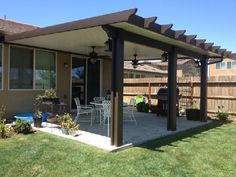 Gentil Wood Grained Aluminum Solid Patio Covers And Lattice Arbors. DIY Patio Cover  Kits Are Available