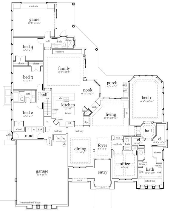 Unique House Plans, Castle House Plans