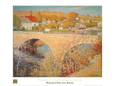 Bridge At Ipswich Art Print
