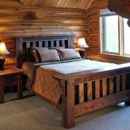 Barnwood Mission Style Bed Rustic Bedroom Furniture Rustic