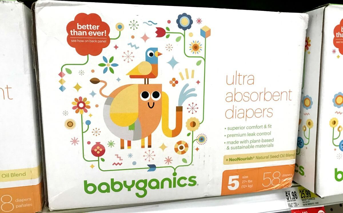 Rare 5 1 Babyganics Box Diaper Coupon Awesome Target Gift Card