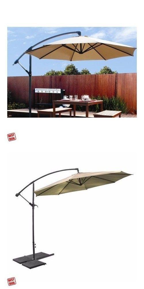 Umbrella Stands 180999: Outdoor Patio Hanging Umbrella Off Set Parasol Stand,  Base 10 Sun