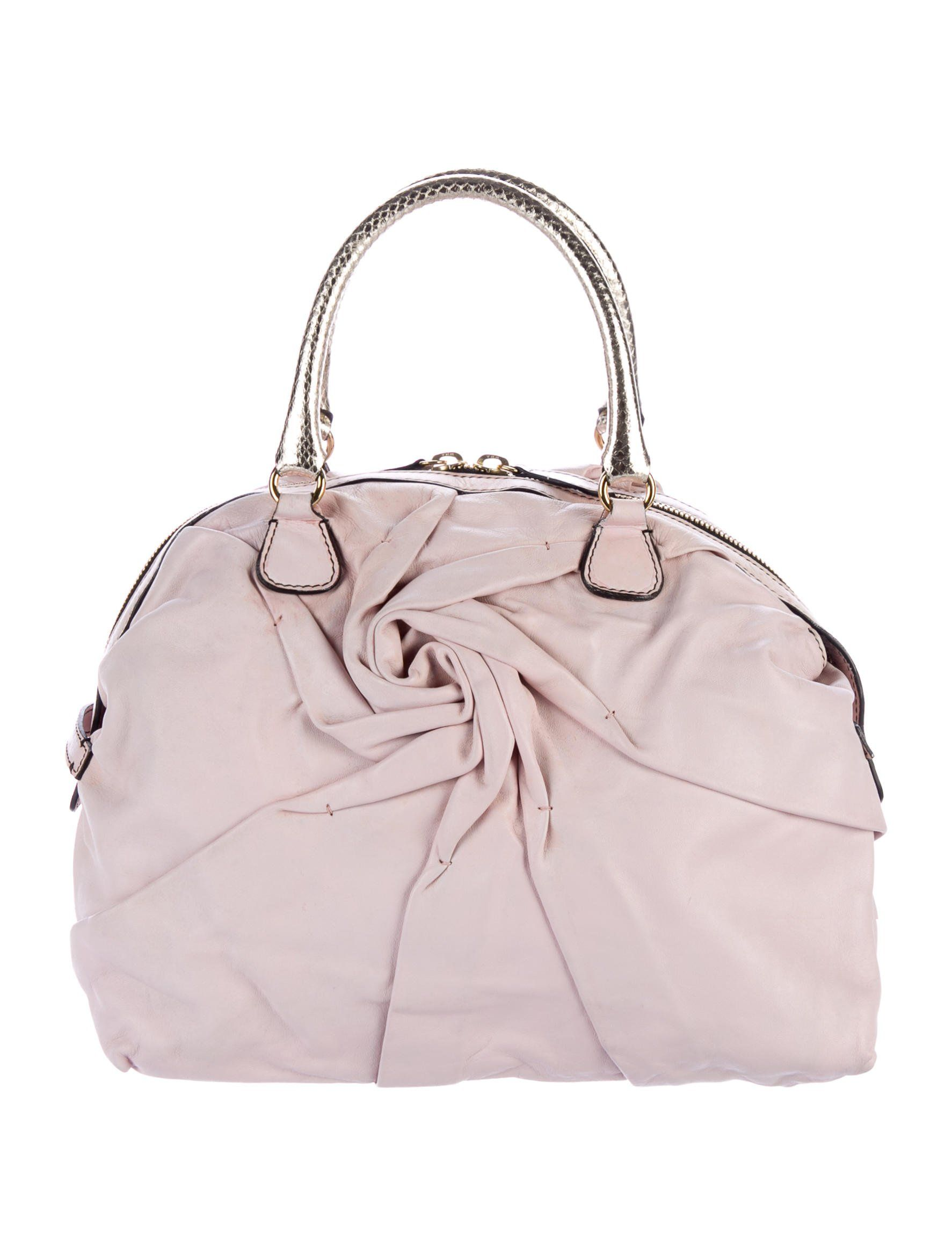 75ac7b6c2a5 Snakeskin-Trimmed Dome Tote in 2019 | Borse fashion | Bags, Snake ...