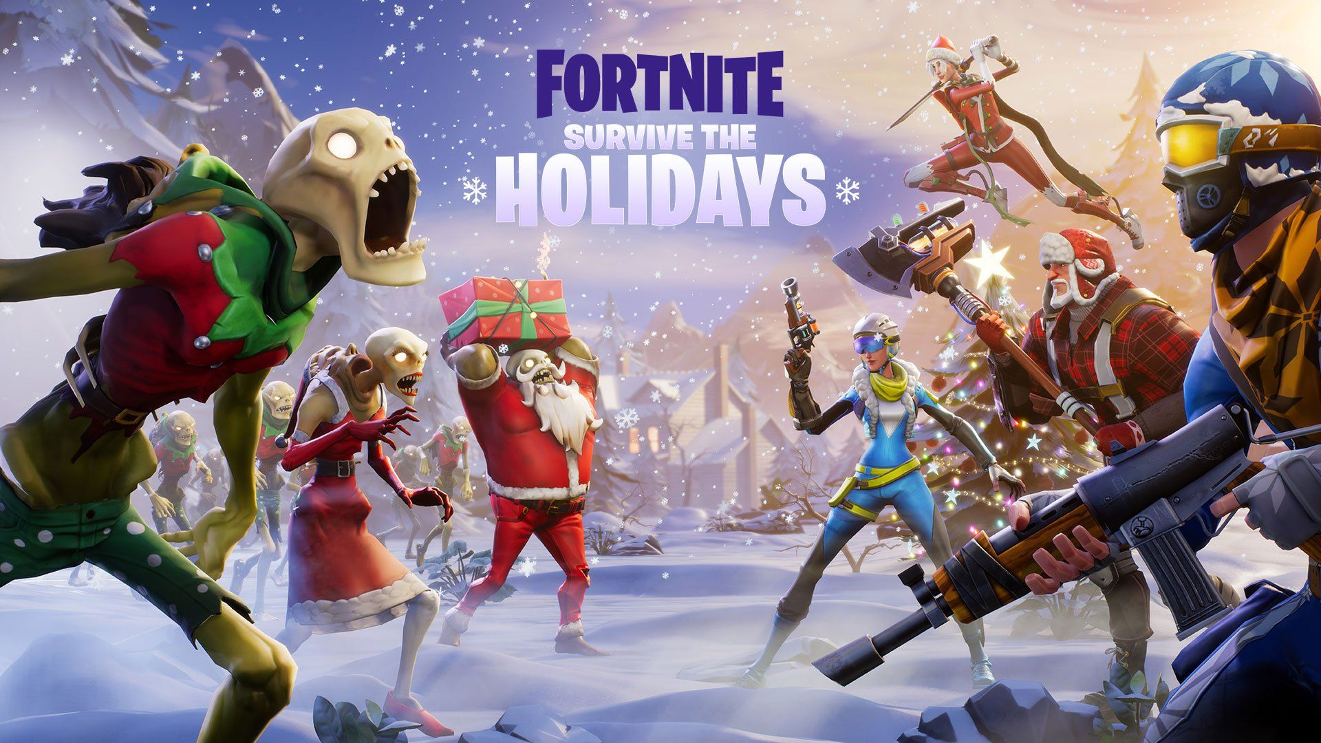 Fornite S Survive The Holidays Event And Battle Royale Battle