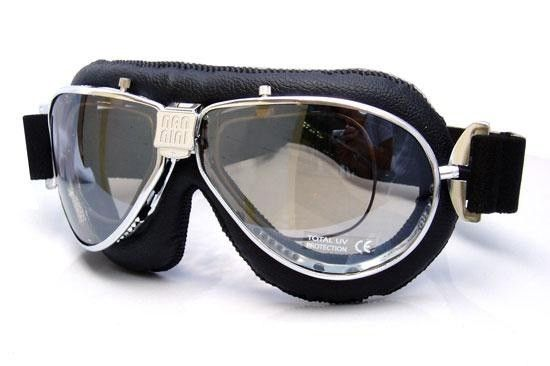 d3a9f200c3 4V Nannini TT Black leather prescription motorcycle goggles ...