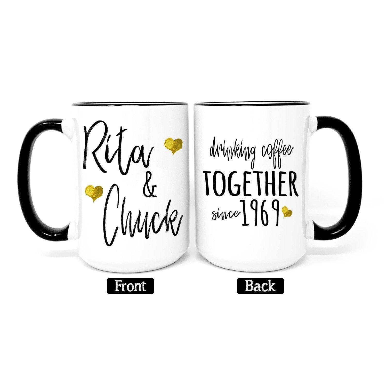 50th Anniversary Gift Wedding Mug Gold Anniversary Parent S