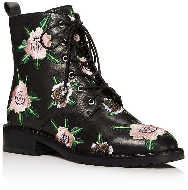 Women's Gerry Floral Combat Boots