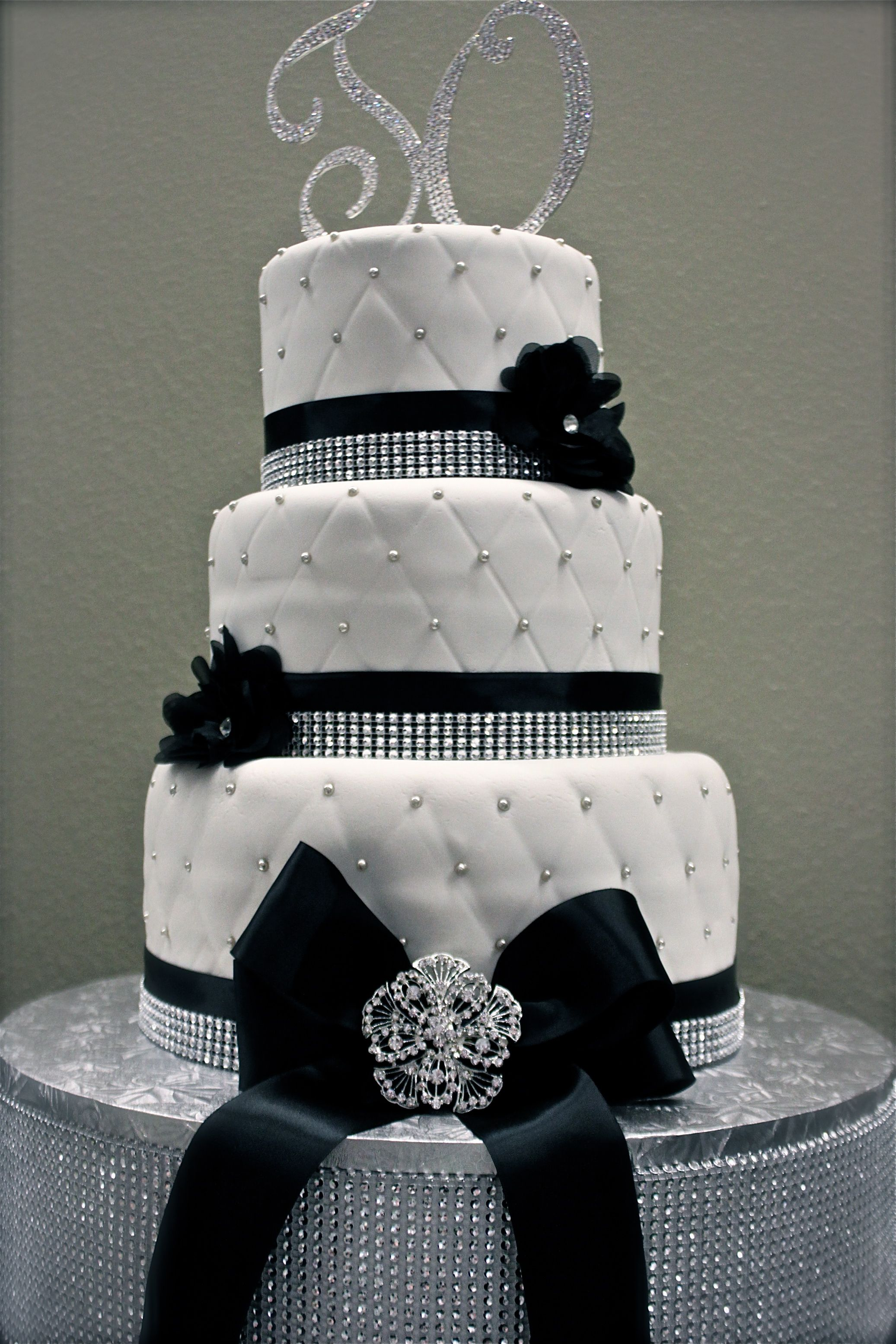 Bling cake for dance team could be for wedding as well black and bling cake for dance team could be for wedding as well black and white junglespirit Image collections