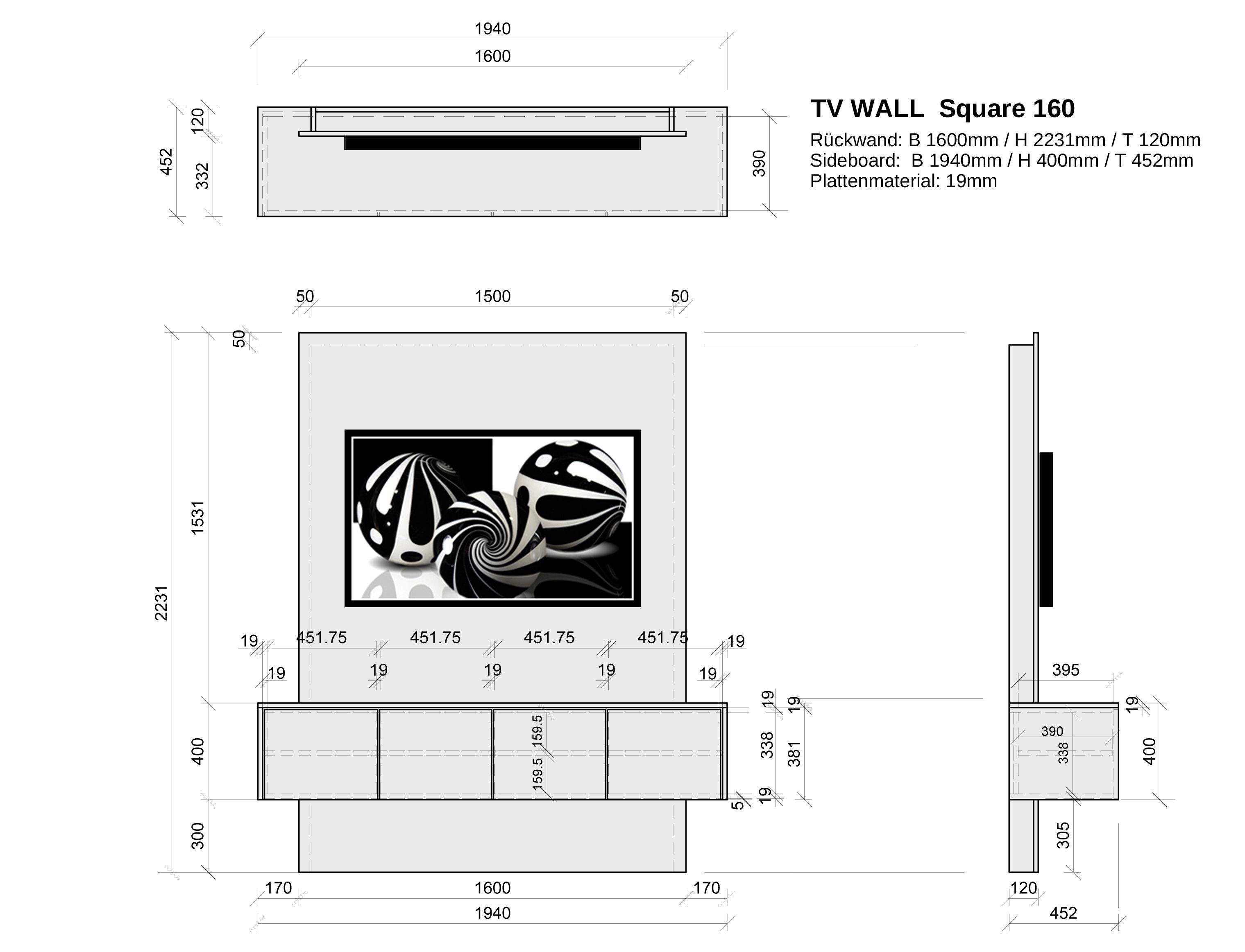 fernseher ohne kabel-chaos elegant an die wand bringen: tv wall