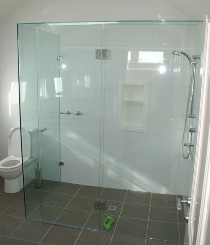 Small Bathroom With Frameless Shower: Semi Frameless Shower Screen - Google Search