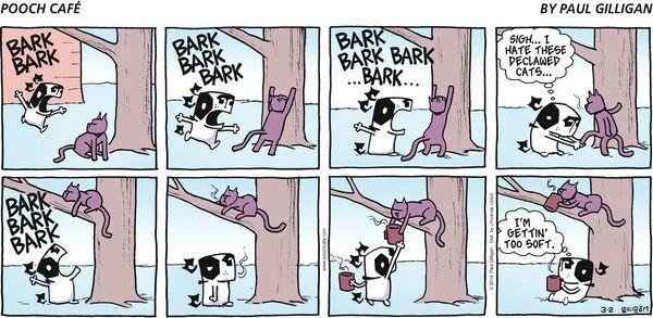 Comic strip pooch