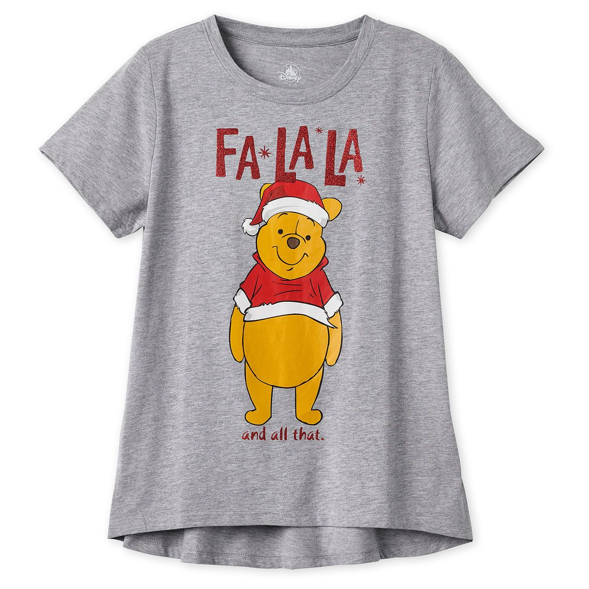 5424501456eab Product Image of Winnie the Pooh Holiday T-Shirt for Women   1
