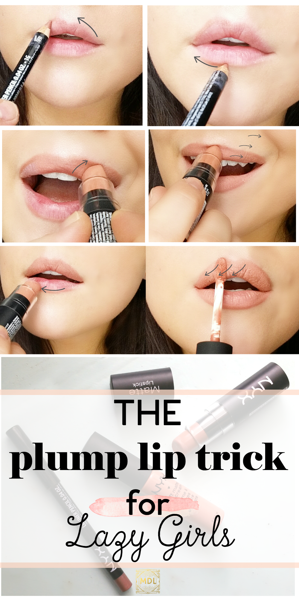 How To Get Realistic Looking Plump Lips Using Matte