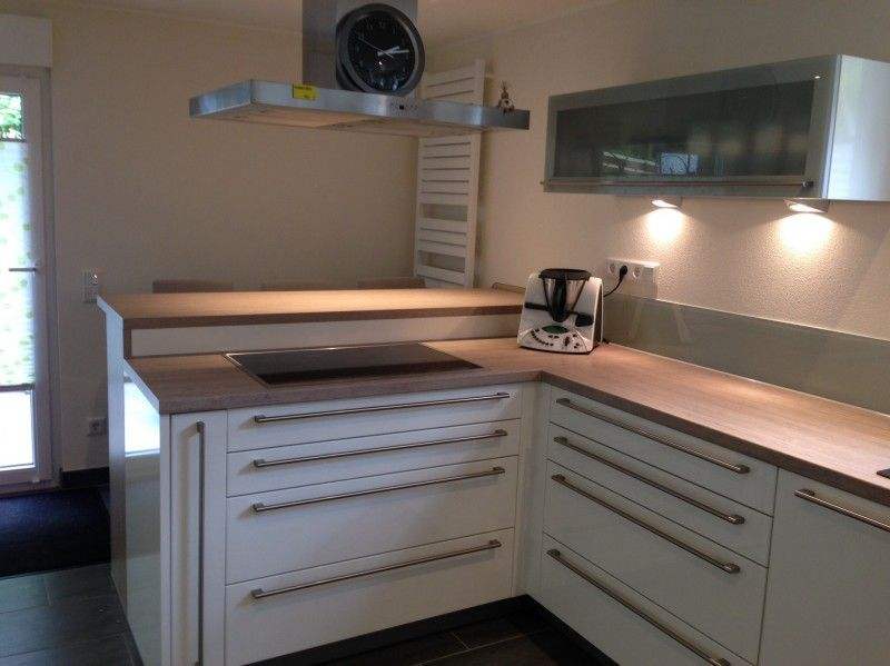 unsere neue k che ist fertig der hersteller ist h cker systemat av 4030 stilrichtung. Black Bedroom Furniture Sets. Home Design Ideas
