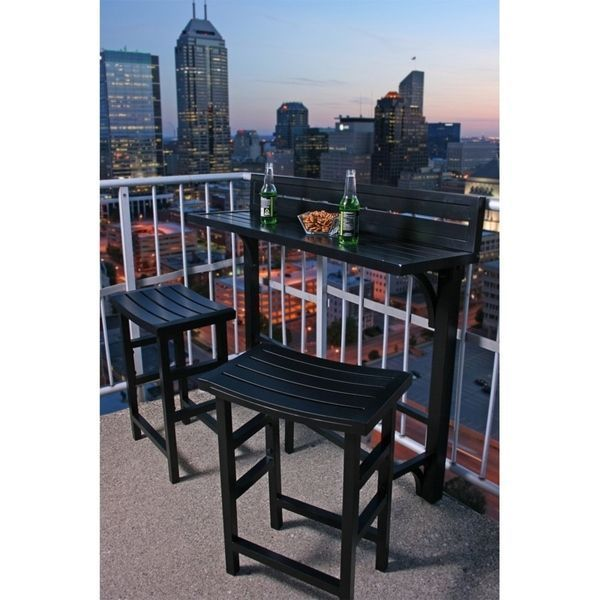 The Balcony Bar - 3 Piece Furniture | Overstock.com Shopping - The Best Deals on Bistro Sets #balconybar