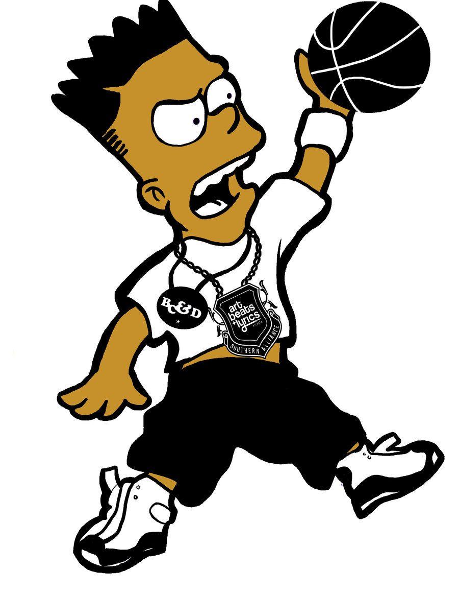 black bart simpson black