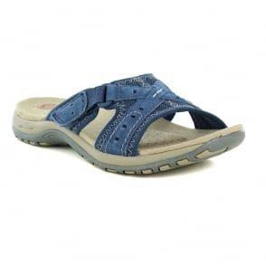 00795d889a566 Earth Spirit Rialto Womens Slip-On Walking Sandals - Cobalt Blue ...