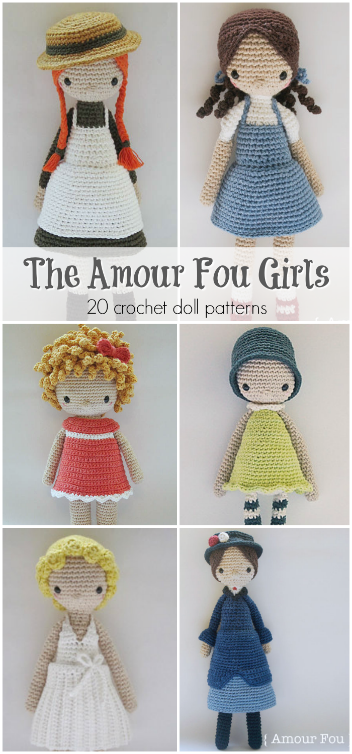 I love this designer\'s crochet doll patterns! So simple and gorgeous ...