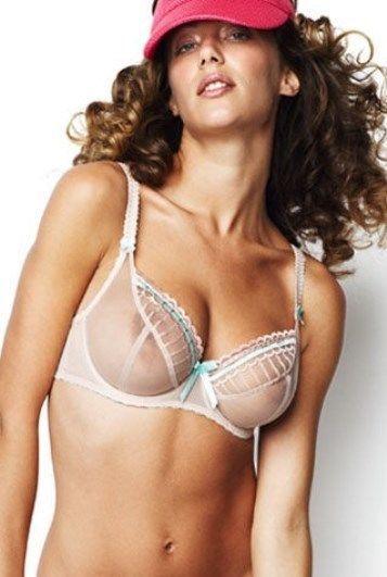 e9cfc1d587 Freya Arabella 5721 Sheer Balcony Plunge Bra - Oyster Pink - Size 28DD