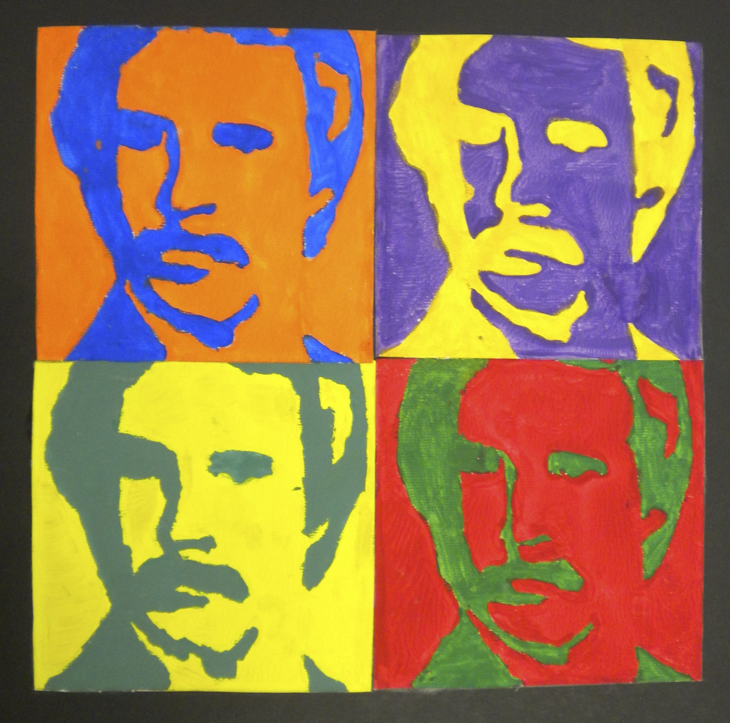 Mrs Steiner S Middle School Art Pop Art Andy Warhol Printing Project Ron Burgundy