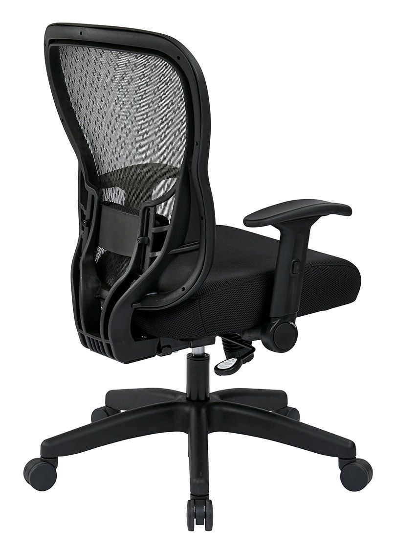 529 Series Deluxe R2 Spacegrid Back Chair With Mesh Seat And Flip Arms Adjustable Lumbar Support Height And Tilt Adjustable And 4 Way Adjustable Arms Gree