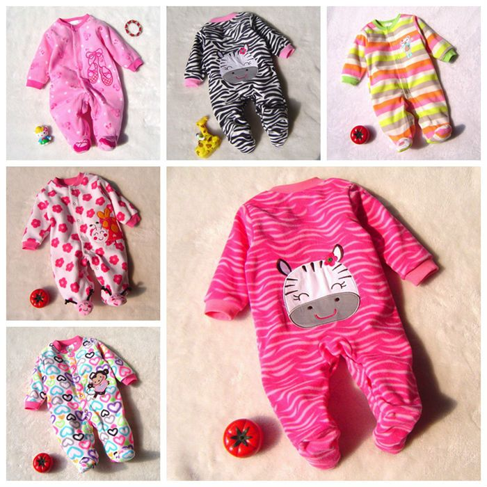 ONEZEE Infant Girls Leopard and Zebra Print Hooded All in One Jumpsuit