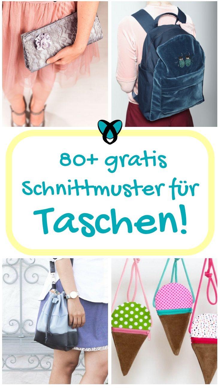 Photo of 80+ Taschen nähen mit gratis Schnittmuster!