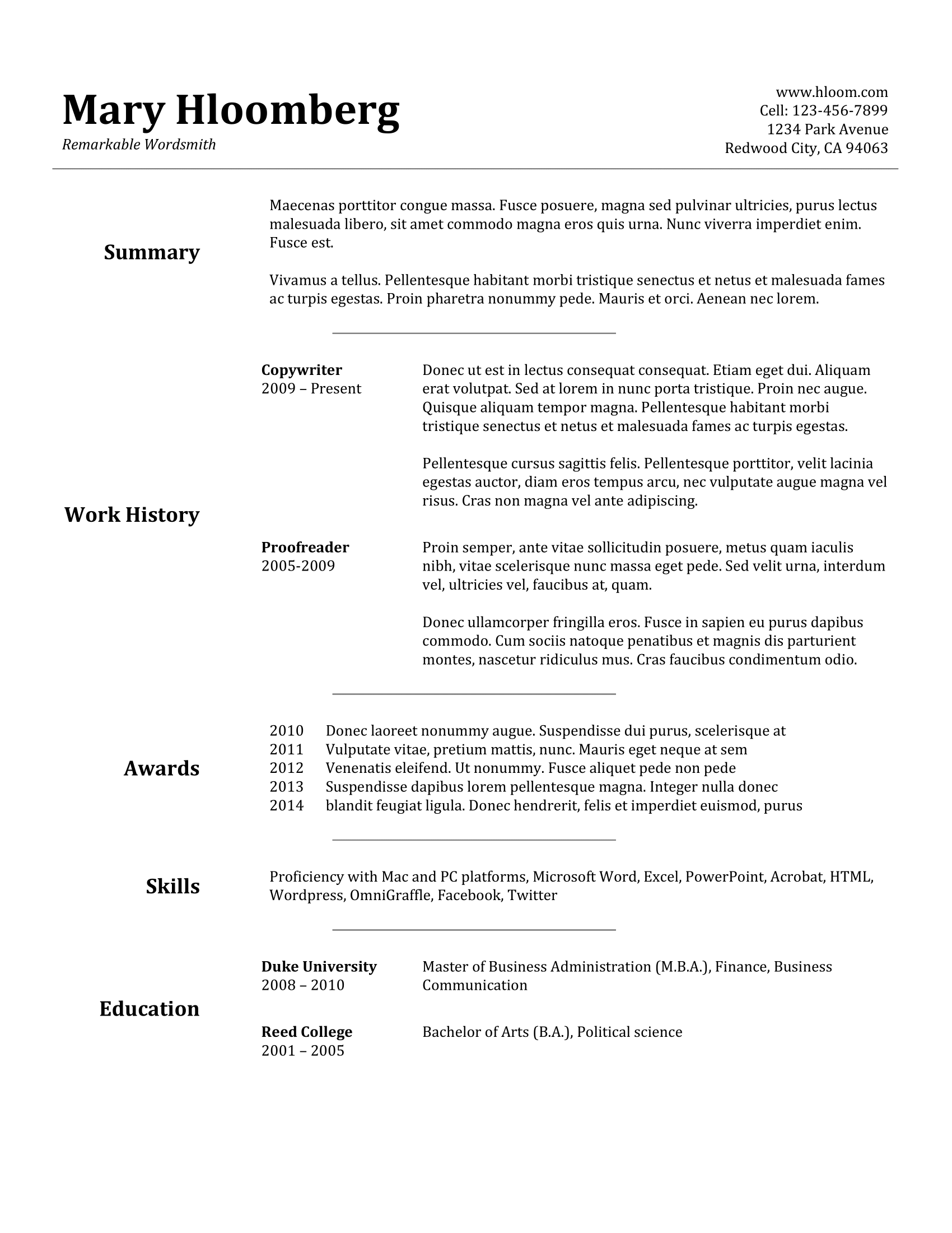 Resume Templates Science 4 Templates Example Templates Example Resume Templates Job Resume Template Job Resume Examples