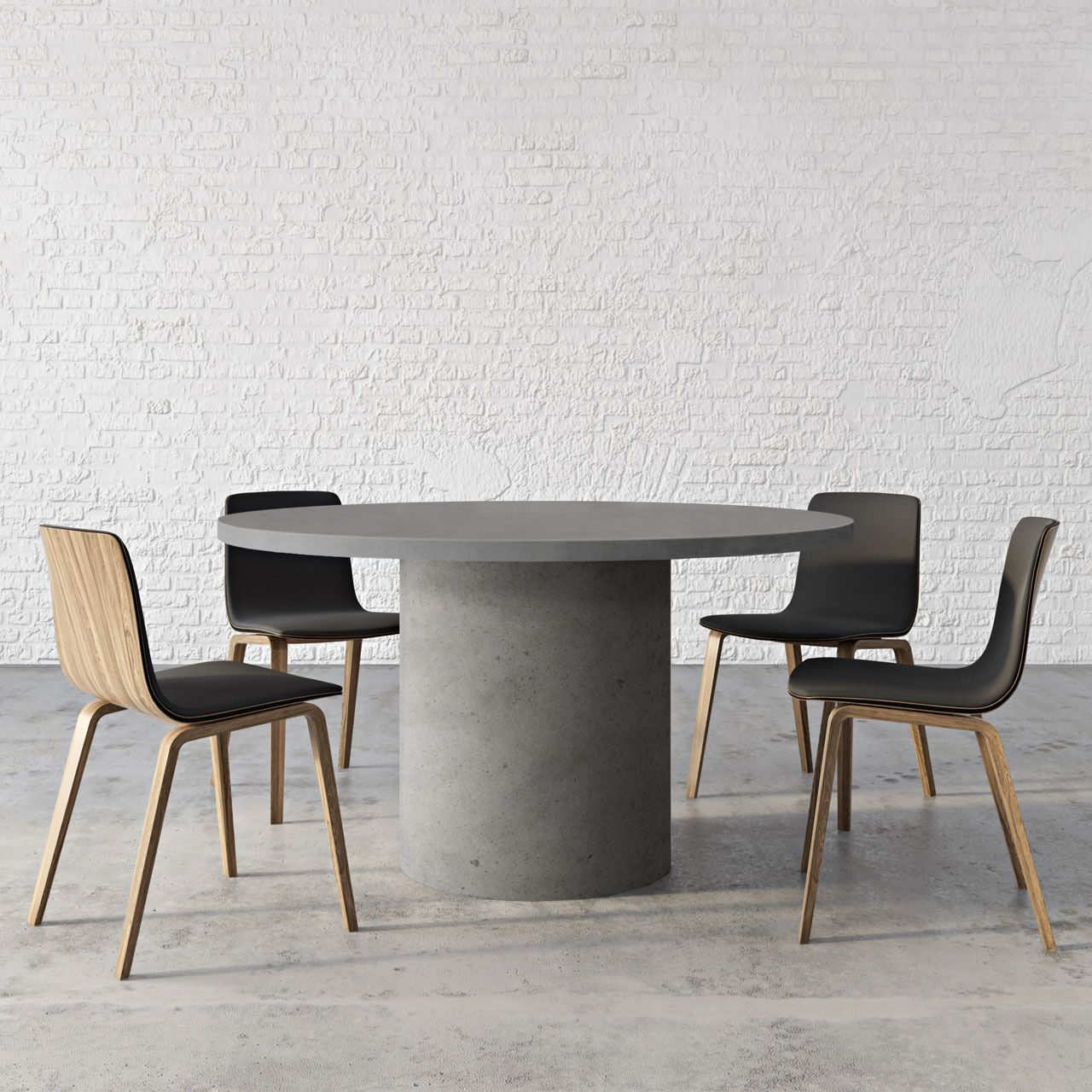 Aura Round Concrete Dining Table Round Concrete Dining Table