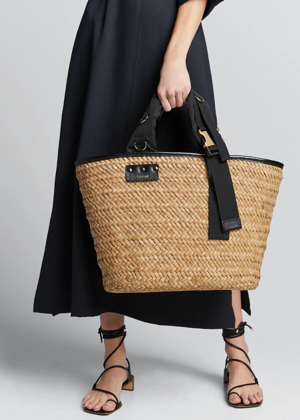 2019 Designer Bucket Macrame Resort Beach Tan Tote Bag