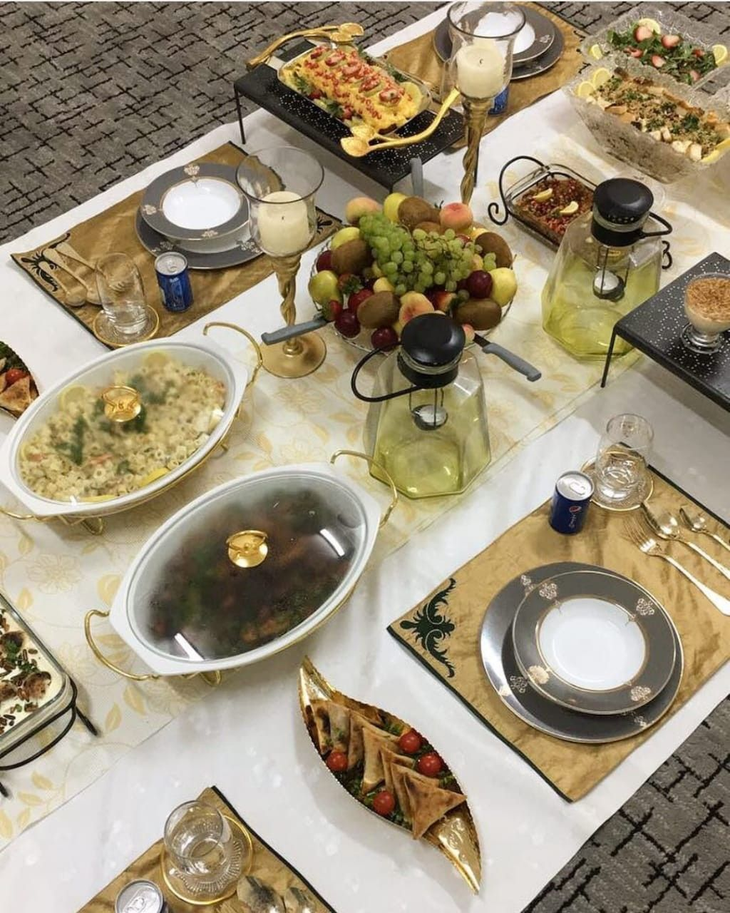 Pin By Haidy On ضيافه و تقديمات Dinner Party Recipes Food Decoration Snap Food