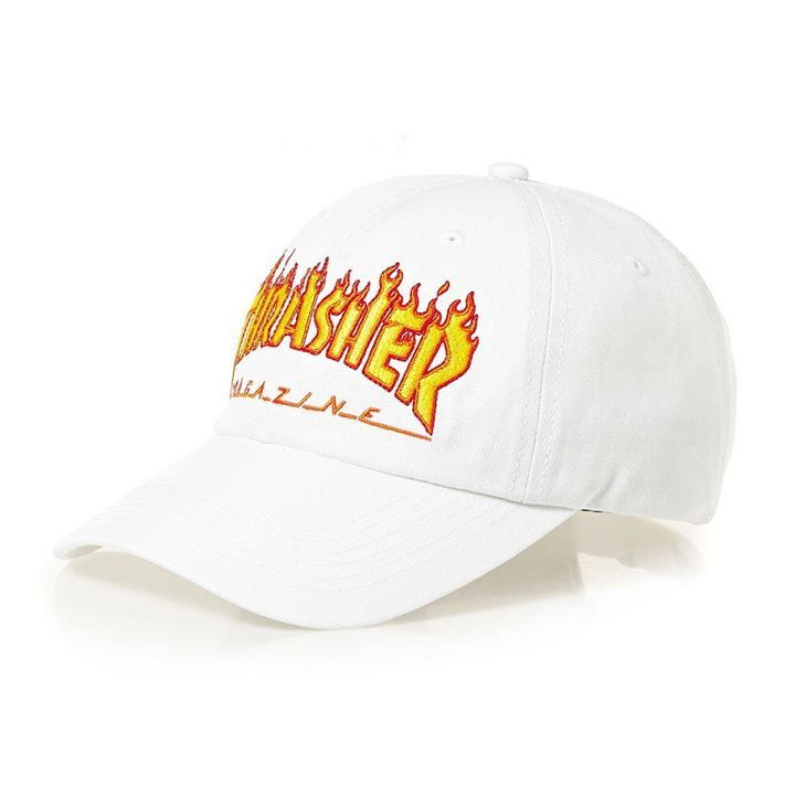 c0b74697 Thrasher Cap Flame Old Timer White Unstructured (1) | snapchat @ https:/
