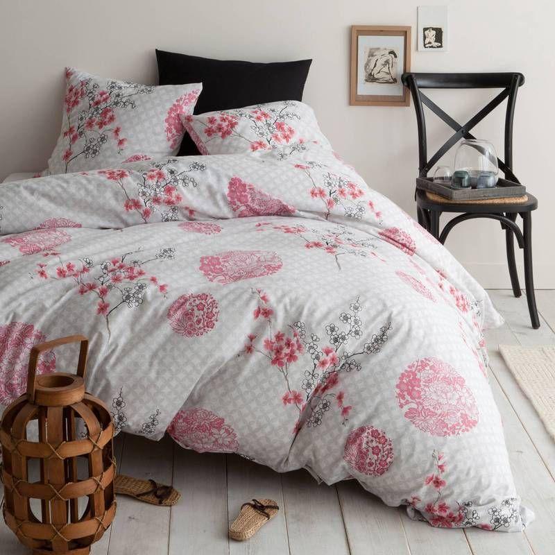 parure housse de couette 1 ou 2 taies polycoton imprim. Black Bedroom Furniture Sets. Home Design Ideas