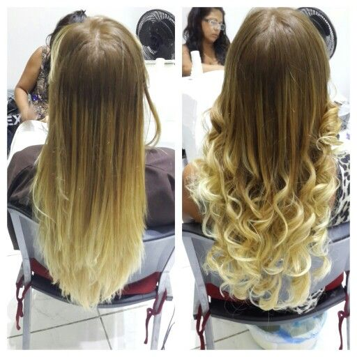 before\u0026after ombre balayage californianas onMyChair hair cabello  hairdresser