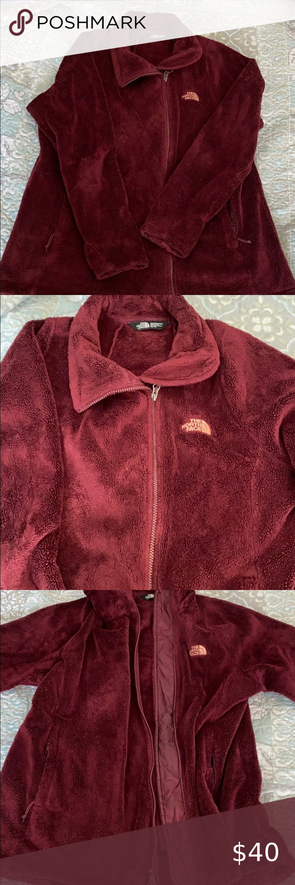 The North Face Fleece Jacket Gently Used North Face Jacket In Burgundy Perfect Fleece Jacket For Fall Zip Pock North Face Fleece Jacket Fashion Fleece Jacket [ 1740 x 580 Pixel ]