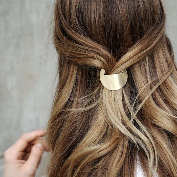 Alle Haarspangen Pardon My French Langhaar French Haarspangen Langhaar Pardon Diyfrisuren Clip Hairstyles French Hair Thick Hair Styles