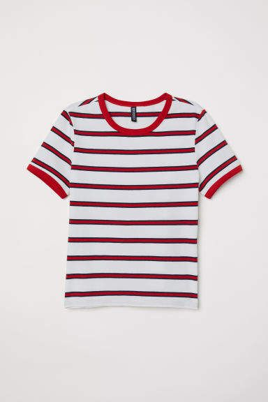 9c611fdbc4 Short Jersey Top   Products   Pinterest   Tops, T shirt and Red stripes