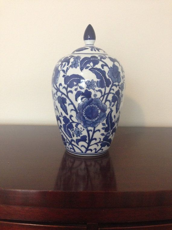 94e492097715 Beautiful Blue   White Chinoiserie Ginger Jar Vase. Excellent condition.  Height  13 Diameter  8 Four of these are available. Buy Two or