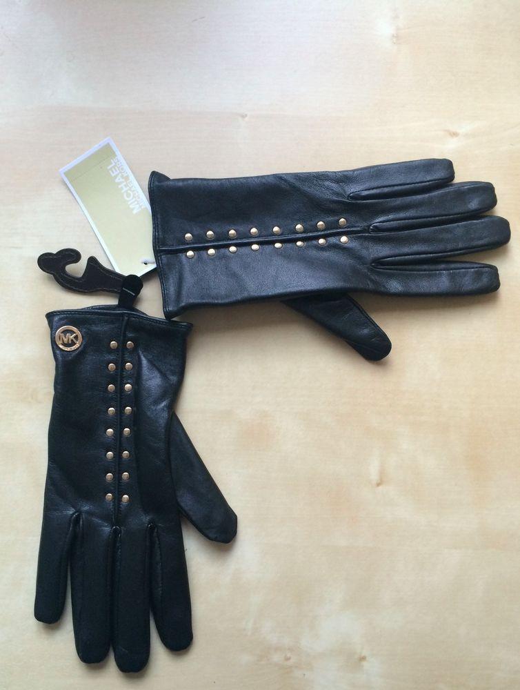 MICHAEL KORS Damen Handschuhe Leder Original Größe L NEU NEW
