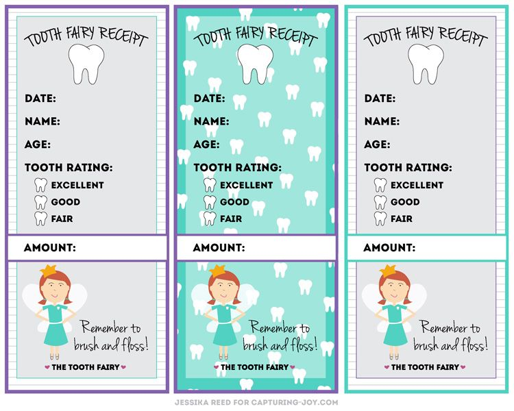 Tooth Fairy Receipt Free Printable Tooth fairy receipt, Tooth - free printable receipt book