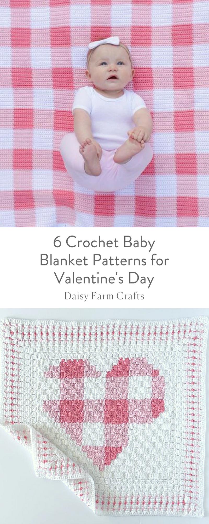 6 Crochet Baby Blanket Patterns for Valentine\'s Day | Mantas ...