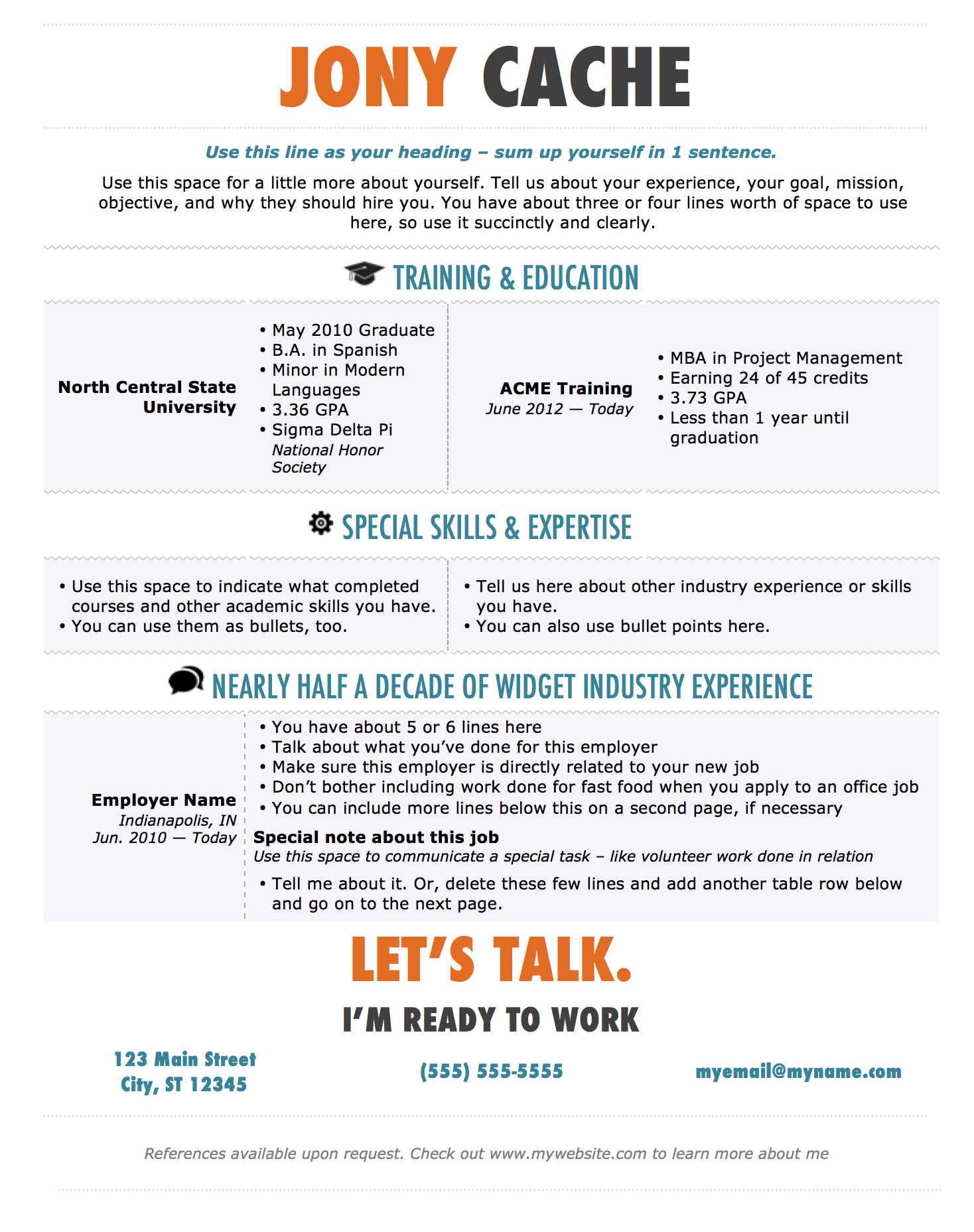 Sample Online Resume Templates Hobbies Examples Free Visual