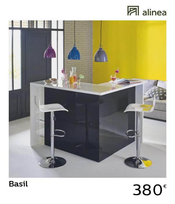 Alinea Basil Bar Bicolore Grand Modele L145cm Meubles