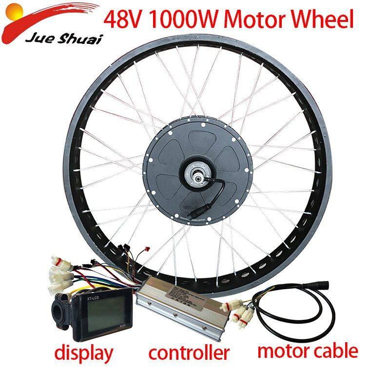 48v1000w Brushless Hub Motor Electric Bicycle Rear Drive Electric