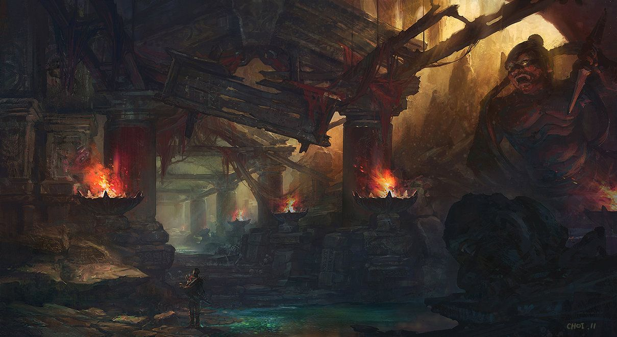 Hundreds of years after it was abandoned, the magical pyres still burned as bright.