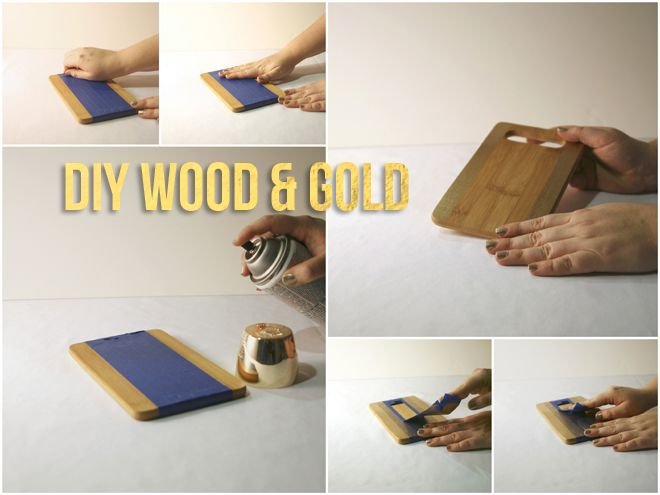 DIY Wood & Gold Tray Platter! Easy DIY tray