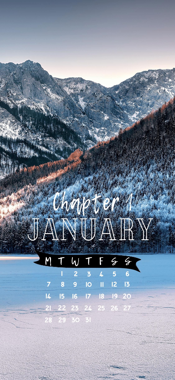 January 2019 Calendar Wallpaper! Chapter 1 - Cute wintery phone backgrounds