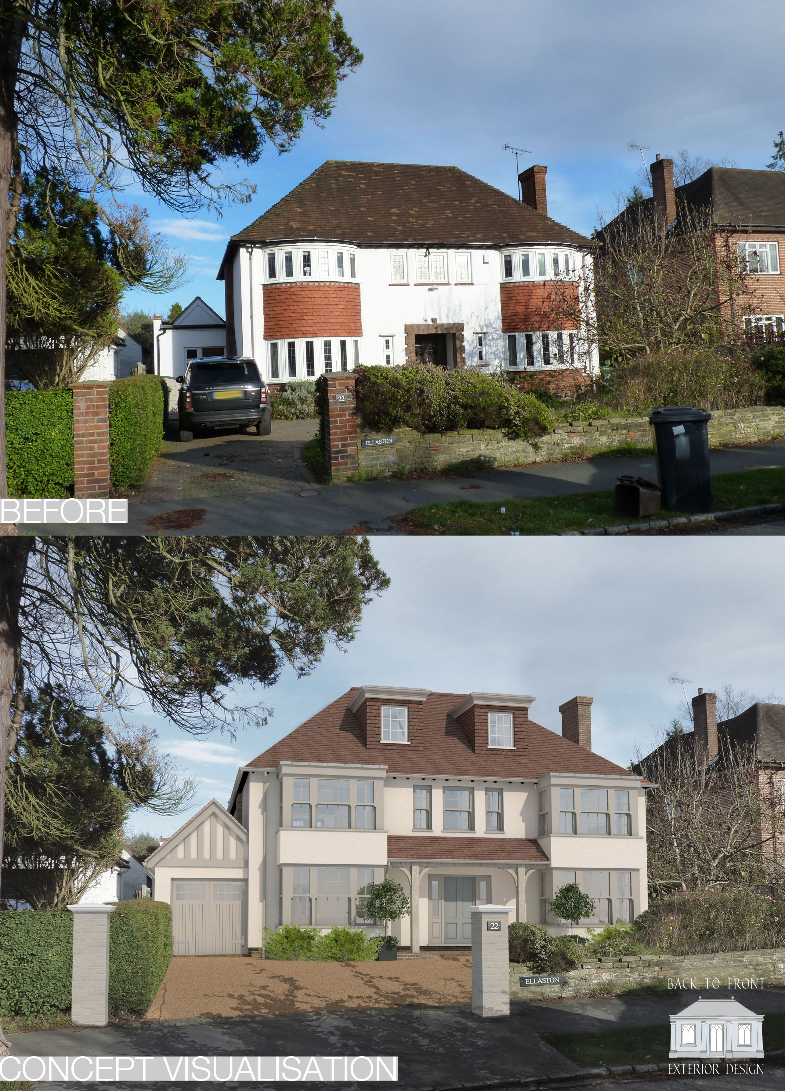 Remodelling scheme updating the exterior as well