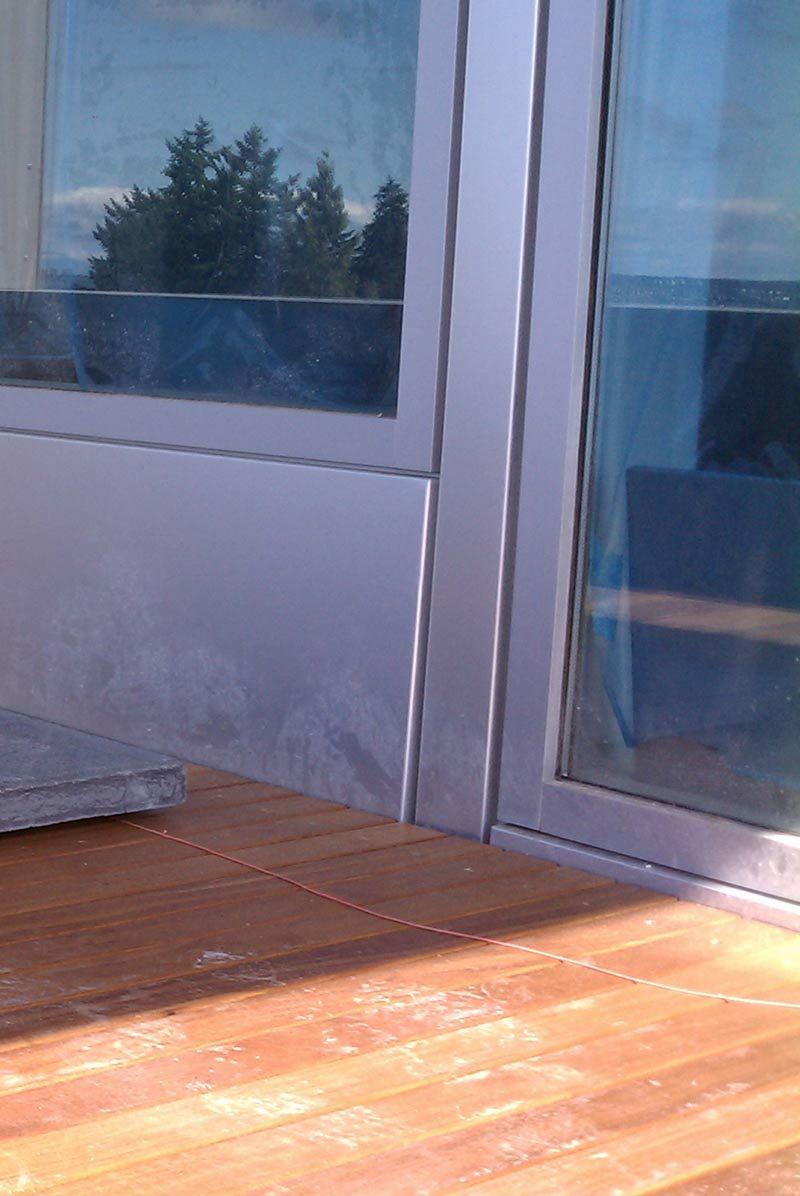Wood Deck At Anodized Aluminum Wondows And Panel Building A House Wood Deck Building